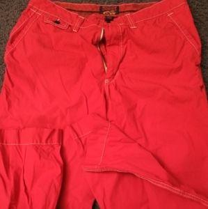 MEN'S SIZE 34/32 DANIEL CREMIEUX RED CASUAL PANTS